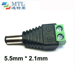 DC jack connector–5.5mm*2.1mm, male