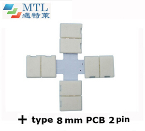 "LED corner connector ""+"" type FPC-2P8MM-C"